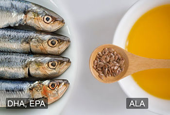 欧米伽3脂肪酸 - DHA, EPA和ALA